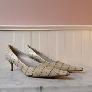 Vintage Giuseppe Zanotti ivory crocodile heels